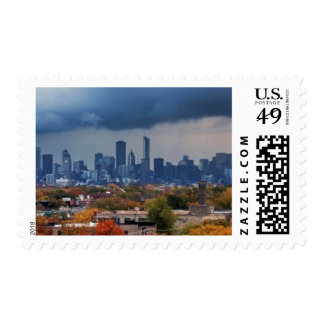 USA, Illinois, Chicago, cityscape Postage Stamps