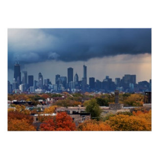 USA, Illinois, Chicago, cityscape Poster
