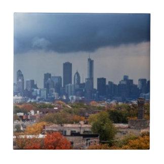 USA, Illinois, Chicago, cityscape Tile