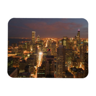 USA, Illinois, Chicago: Evening View of The Loop 2 Magnet