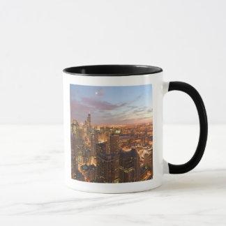 USA, Illinois, Chicago: Evening View of The Loop Mug