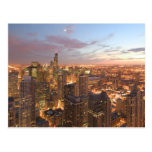 USA, Illinois, Chicago: Evening View of The Loop Postcard
