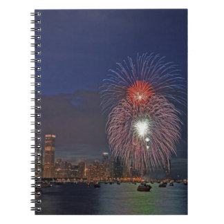 USA, Illinois, Chicago, Fourth of July fireworks Notebook