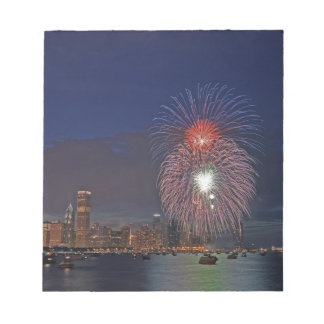 USA, Illinois, Chicago, Fourth of July fireworks Notepad
