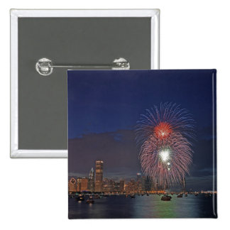 USA, Illinois, Chicago, Fourth of July fireworks Pinback Button