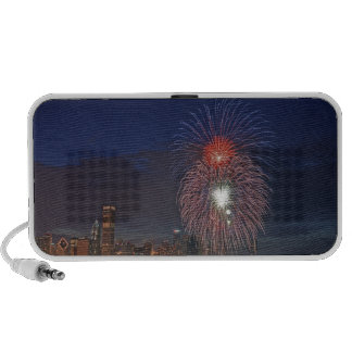 USA Illinois Chicago Fourth of July fireworks Notebook Speakers