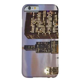 USA, Illinois, Chicago, Illuminated skyscrapers Barely There iPhone 6 Case