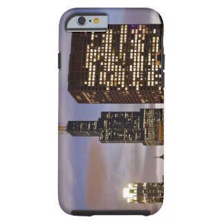 USA, Illinois, Chicago, Illuminated skyscrapers Tough iPhone 6 Case