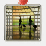 USA, Illinois, Chicago: O'Hare International Square Metal Christmas Ornament