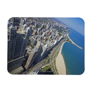 USA, Illinois, Chicago shore seen from Hancock Magnet