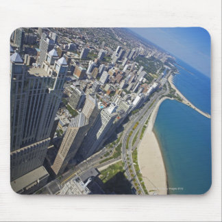 USA, Illinois, Chicago shore seen from Hancock Mouse Pad