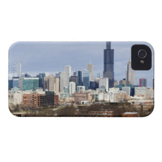 USA, Illinois, Chicago skyline 2 iPhone 4 Case-Mate Case