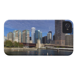 USA, Illinois, Chicago skyline across river iPhone 4 Case