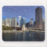 USA, Illinois, Chicago skyline across river Mouse Pad