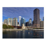 USA, Illinois, Chicago skyline across river Postcard