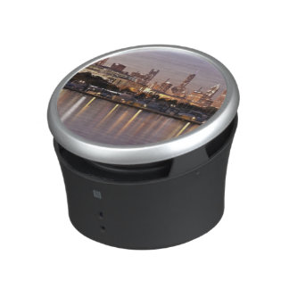 USA, Illinois, Chicago skyline at dusk Bluetooth Speaker