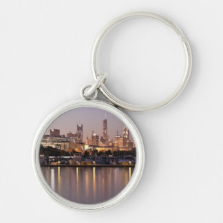 USA, Illinois, Chicago skyline at dusk Keychain
