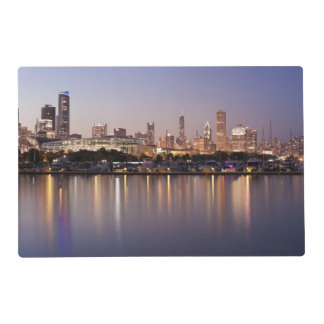 USA, Illinois, Chicago skyline at dusk Placemat