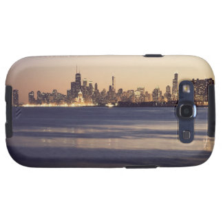 USA, Illinois, Chicago, Skyline at sunset Samsung Galaxy S3 Cover