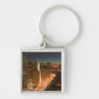 USA, Illinois, Chicago: The Loop: Buildings Keychain