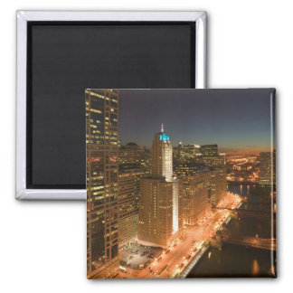 USA, Illinois, Chicago: The Loop: Buildings Magnet