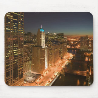 USA Illinois Chicago The Loop Buildings Mousepad