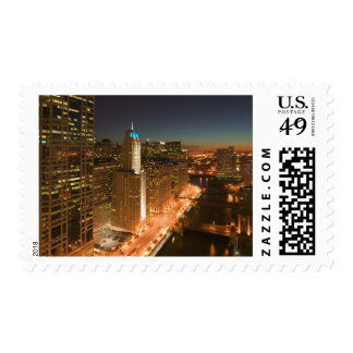 USA, Illinois, Chicago: The Loop: Buildings Postage Stamp