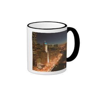 USA, Illinois, Chicago: The Loop: Buildings Ringer Coffee Mug