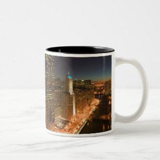 USA, Illinois, Chicago: The Loop: Buildings Two-Tone Coffee Mug