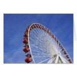 USA, Illinois, Chicago. View of Ferris wheel Card