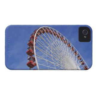 USA, Illinois, Chicago. View of Ferris wheel iPhone 4 Case-Mate Case