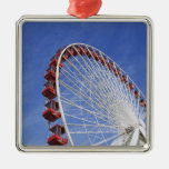 USA, Illinois, Chicago. View of Ferris wheel Metal Ornament