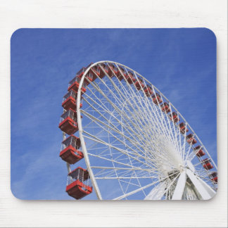 USA, Illinois, Chicago. View of Ferris wheel Mouse Pad