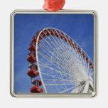 USA, Illinois, Chicago. View of Ferris wheel Christmas Tree Ornament