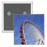 USA, Illinois, Chicago. View of Ferris wheel Pinback Button