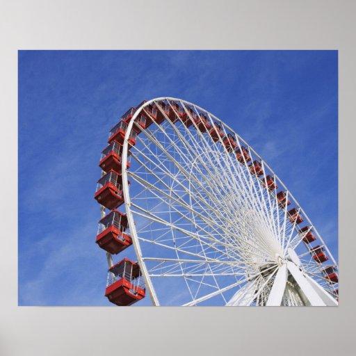 USA, Illinois, Chicago. View of Ferris wheel Poster