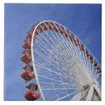USA, Illinois, Chicago. View of Ferris wheel Tile