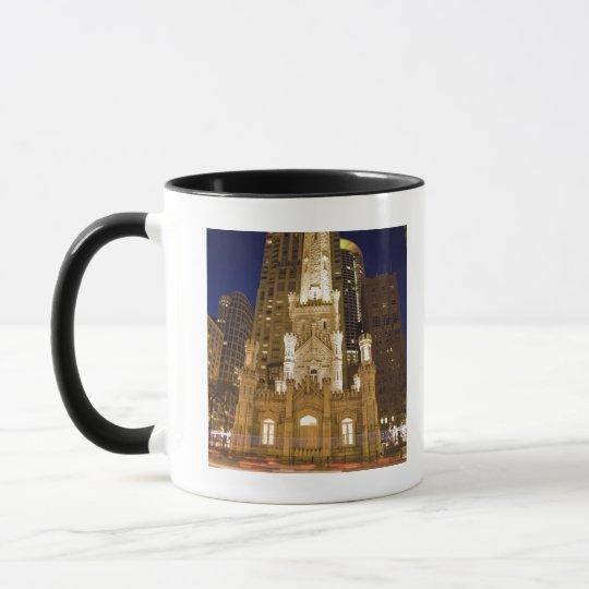 USA, Illinois, Chicago, Water Tower illuminated Mug