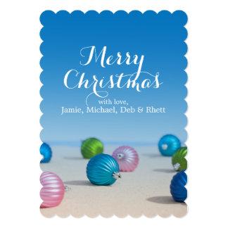 USA, Illinois, Metamora, Christmas bulbs Card