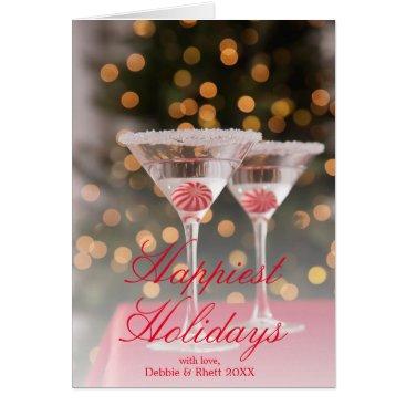 USA Themed USA, Illinois, Metamora, Christmas cocktail Card