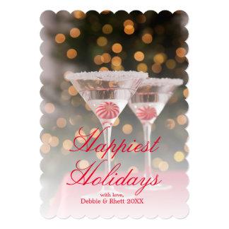 USA, Illinois, Metamora, Christmas cocktail Card