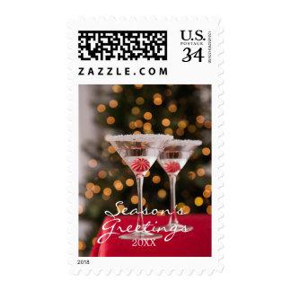 USA, Illinois, Metamora, Christmas cocktail Postage