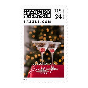 USA Themed USA, Illinois, Metamora, Christmas cocktail Postage