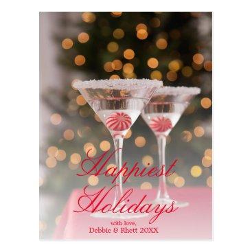 USA Themed USA, Illinois, Metamora, Christmas cocktail Postcard