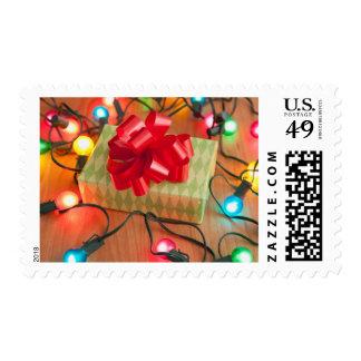 USA, Illinois, Metamora, Christmas gift Postage