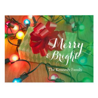 USA, Illinois, Metamora, Christmas gift Postcard