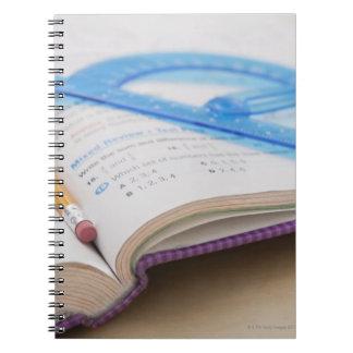 USA, Illinois, Metamora, Maths book Note Book
