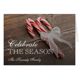 USA, Illinois, Metamora, Peppermint candy canes Card