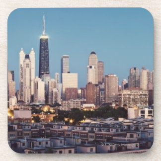 USA, Illinois, North Loop in Chicago panorama Coaster