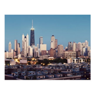USA, Illinois, North Loop in Chicago panorama Postcard